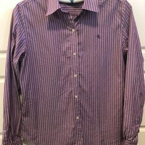 Womens Ralph Lauren Purple Stripped Button Up Sz S